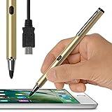 [USB充電対応] 超極細1.9mm スタイラスペン(ゴールド)「Renaissance ZERO 2™ 〜ルネサンス 零弐〜」 タッチ感度の調整機能付・充電して繰り返し使える電池いらずのバッテリー内蔵型・スリムでスマートな細身ペン軸・ iPhone/iPad/iPad miniシリーズ専用