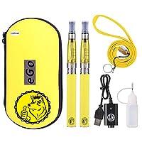 WOLFTEETH 電子タバコ ego アトマイザー 1100mAH禁煙セット vape ハイクオリティ リキッド無し ニコチン無し 日本語取扱説明書付 黄色/yellow