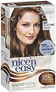 Clairol Nice 'N Easy, 6G Natural Light Golden Brown, 1 Applica