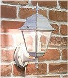 洋風 アンティーク調 ブラケットタイプ ウォールランプ スクエア ホワイト 壁面用 ライト AZL-10DWL02S-white