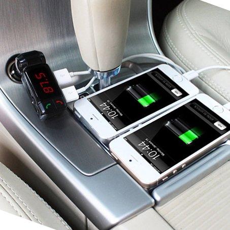 FMトランスミッター bluetooth シガーソケット USB 2ポート 充電 12V