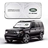 JYMAOYI Land Rover Sunshade Windshield Visor Cover Car Window Sun Shade UV Protect Car Window Film for Most Land Rover Discovery Sport Evoque Freelander LR2 RangeRover Sport Velar