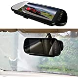 "7"" Car Auto Monitor in-Mirror LCD Screen HD 800x480, E-Kylin 12V / 24V Universal for Truck Mirror Mount Clip 2 RCA Input for Backup Camera/Rear View/DVD/Media Player"