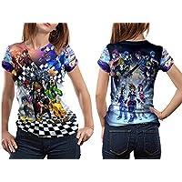 Kingdom Hearts Woman Top TシャツDisneyビデオゲームカスタムFullprint昇華サイズ: S to 3X L