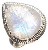 StarGems(tm) 925スターリングシルバー Moonstone ユニークなハンドメイド 指輪 11.5 号 Numerous Colors T5489