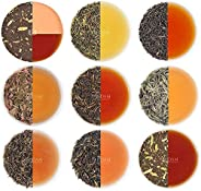VAHDAM, Assorted Loose Leaf Tea Sampler - 10 TEAS, 50 Servings - Black Tea, Green Tea, Oolong Tea, Chai Tea, W