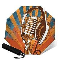 クールヘッドセット 折りたたみ傘 ワンタッチ自動開け 大きい傘 直径96cm 晴雨兼用 超高強度 グラスファイバー超撥水 スーパーUVプロテクション日傘男女兼用雨傘