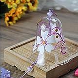 江戸假装不的玻璃风的钟声为家的装饰手涂的白桜