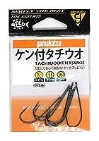 がまかつ(Gamakatsu) タチウオ針 ケン付タチウオ 1/0号 8本 NSブラック 67682