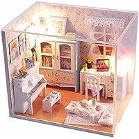ドールハウスhoomeda DIY LED家具カバー木製ミニチュア家部屋人形コーヒー子S Memories Shop Melodious Tweedle Dream木製