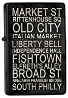 Petrol lighter ライター Printed Philadelphia Attractions