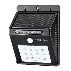 改良版 Holan ソーラーライト 12 LED 人感センサー ウォールライト 防犯&防水 スポットライト 太陽発電 屋外照明 玄関 壁掛け 庭先用