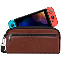 Fintie for Nintendo Switch ケース ポケットとストレージシート付き 本体とアクセサリー対応 防塵、防汚、耐衝撃 ニンテンドースイッチ 収納 バッグ 任天堂スイッチ キャリングケース 保護カバー (ブラウン)