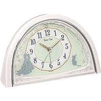 セイコー クロック 目覚まし時計 アナと雪の女王 アナログ Disney Time ディズニータイム 白 パール FD476W SEIKO