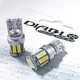STARTECH 5W級 T10 LED バルブ ウエッジ球 SMD7020 10連×2SMD 20チップ搭載 ホワイト 白 ポジション ナンバー ルームランプ 6000K 2個入