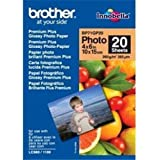 """Brother Glossy Photo Paper, 4 x 6"""", 260gsm, 20 sheets pack. BP71GP20"""