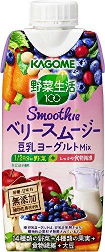 カゴメ 野菜生活100 Smoothie ベリースムージー豆乳...