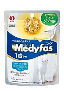 メディファス スープパウチ 1歳から 成猫用 しらす・かつお節入り 40gX12