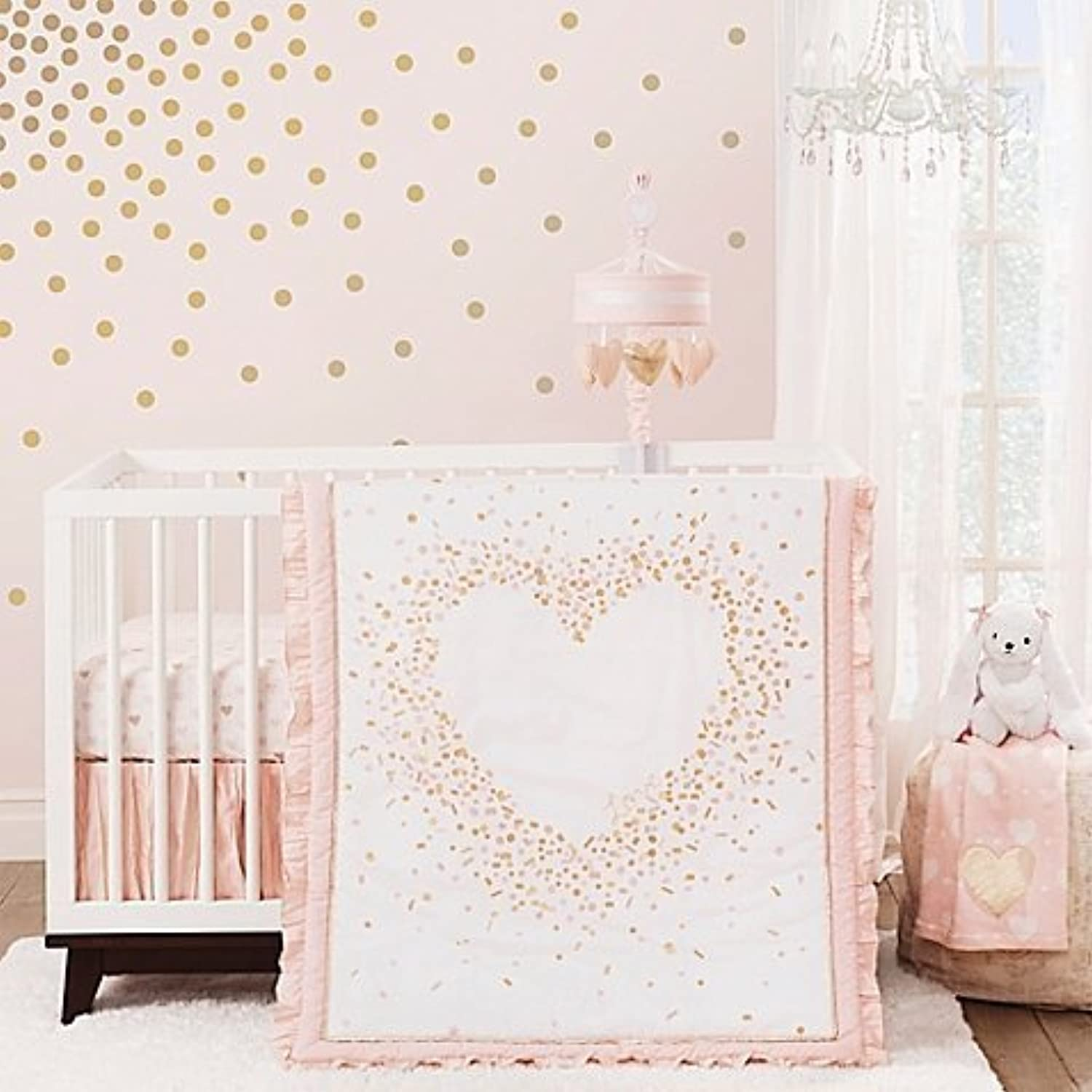 Lambs & Ivy? Sweetheart 3-Piece Crib Bedding Set by Lambs & Ivy