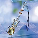 スワロフスキークリスタル キャットストラップ 【07.シリトンイエロー】/swarovski crystal 猫 アクセサリー