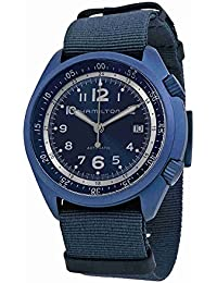 Hamilton ハミルトン メンズ 時計 腕時計 Khaki Aviation Pilot Pioneer Automatic Blue Dial Blue NATO Fabric Mens Watch H80495845
