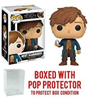 Funko POP 。Fantastic Beasts and Themを見つける場所Newt Scamander with Egg Vinyl Figure (バンドルwith Popボックスプロテクターケース)