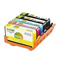 Gohepi 903 XL再生済みHP 903 903 XLインクカートリッジHP OfficeJet 6950に対応HP OfficeJet Pro 6970 HP OfficeJet Pro 6960(2ブラック、1シアン、1マゼンタ、1イエロー)