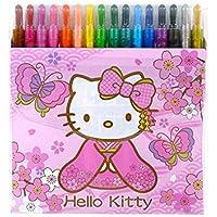 Sanrio Hello Kitty 16色twist-upクレヨン:着物