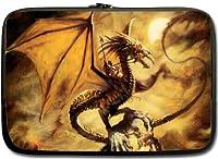 高品質ドラゴン防水ネオプレンラップトップスリーブ15インチノートブックコンピュータバッグケースカバー(ツインサイド)