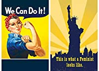 Buttonsmith Feministマグネットセット–Made in the USA PRESet-MagR-Feminist