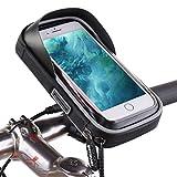 SHITORASU 自転車ホルダー 防水 夜間反射 バイク スマホホルダー バイクスタンド 360 度回転 強力固定マウントキット スマホ・ iPhoneに多機種対応