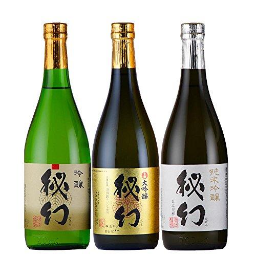 日本酒 地酒 浅間酒造 秘幻 吟醸酒3本セット 飲み比べ 群馬 山田錦 吟醸 純米吟醸 大吟醸 720mlx3本