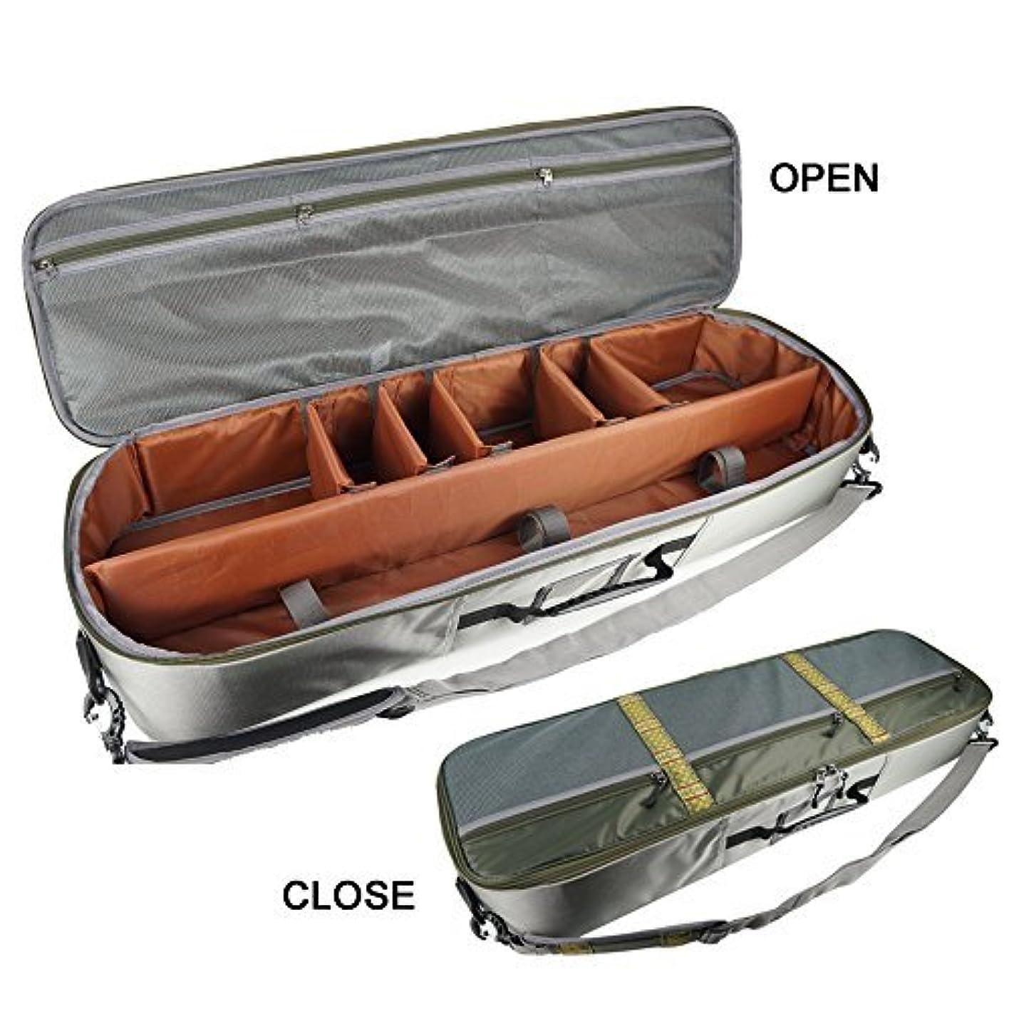 貧困不和状態Aventik多機能釣りロッド&ギアケースAll in One持ち運び簡単、スーパーライト重量、飛行機許可、コンパートメント調整可能