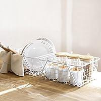 キッチン収納 アイアン 収納バスケット 手提げ 小物入れ フルーツ置き 調味料整理