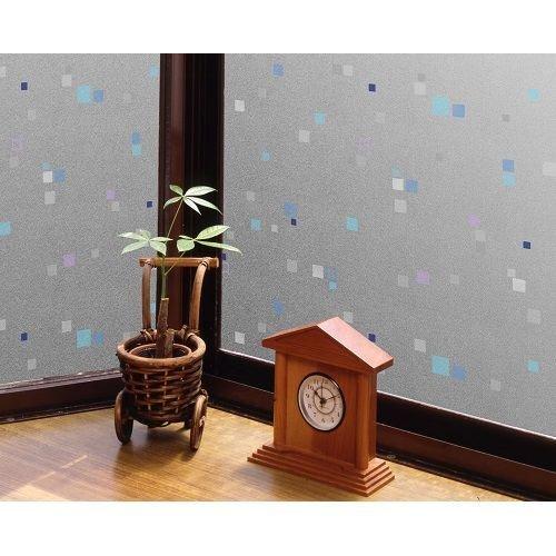 GDP-9232 空気が抜けやすい窓飾りシート(プリントタイプ) 92cm丈×90cm巻 ホワイト