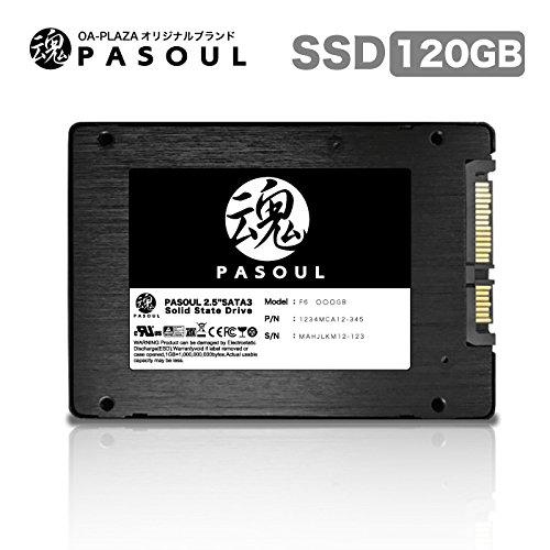 『Pasoul SSD ノートパソコン 増設用 3D TLC NAND採用 新品 2.5インチ 内蔵型SSD 日本国内三年保証 SATA 6Gbps Read(MAX)550 Write(MAX)400MB/s (120GB)』の2枚目の画像