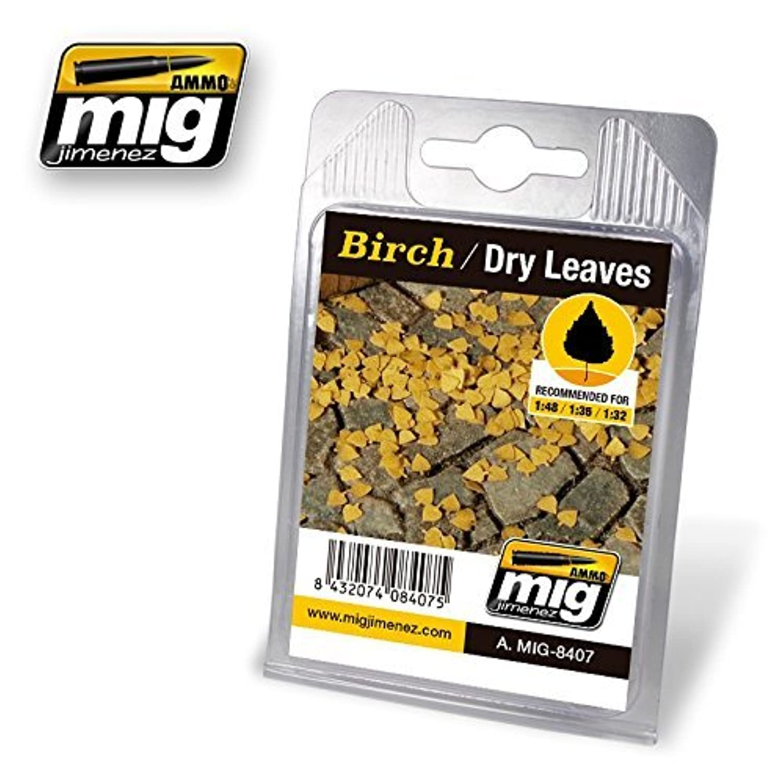 AmmoのMig Jimenez 1 : 32 – 35 – 48リアルなLeaves Birch – Dry Leaves # 8407