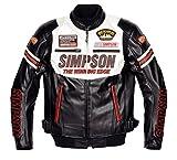 シンプソン(SIMPSON) ジャケット フェイクレザージャケット ホワイト LW SJ-6133