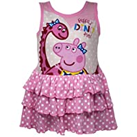 Licensed Peppa Pig Cotton Dress for Girls 2-8 Years in Pink Sleeveless
