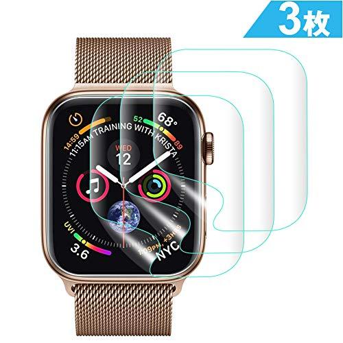 SUPTMAX Apple Watch フィルム 40mm Series 4 アップルワッチ 4 液晶保護フィルム TPU素材 気泡軽減 指紋防止 衝撃吸収 (40mm透明)