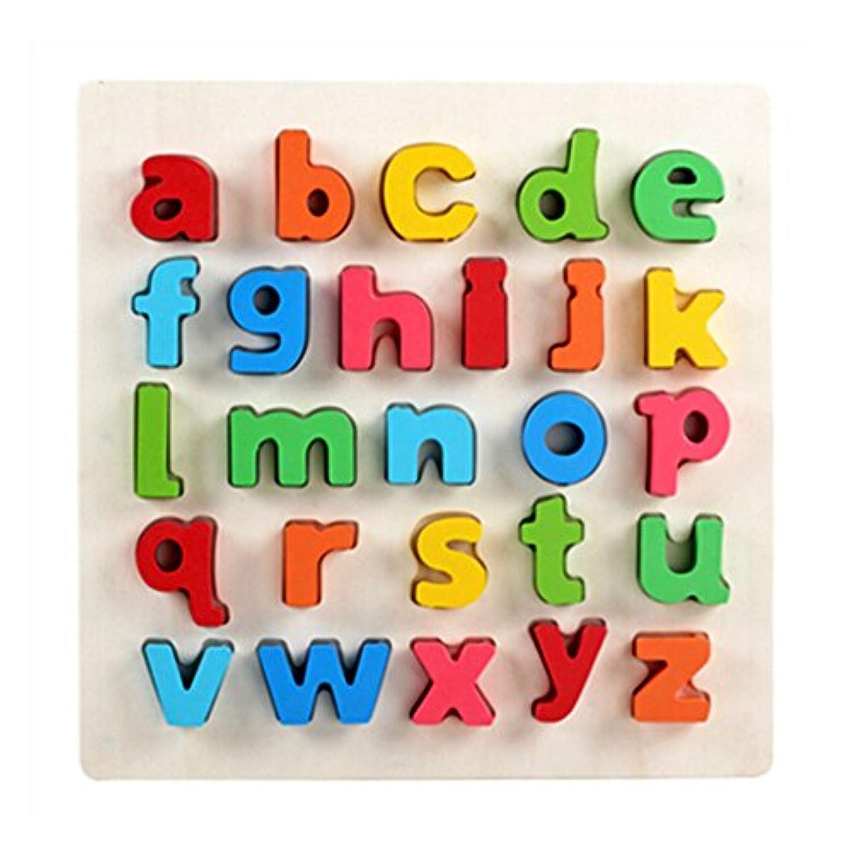 カラフルな木製ハンドクラフトレターToy Shape /カラートイ幼児子供おもちゃファンシー玩具