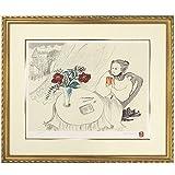 フジ子・ヘミング『ガラスのコップ』シルクスクリーン・風景画・【版画・絵画】【B99】