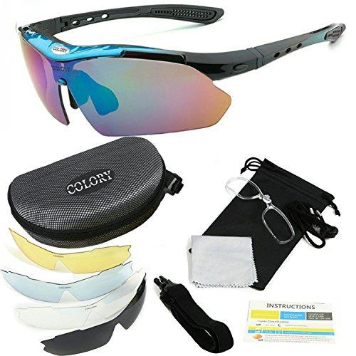 [해외]COLORY 스포츠 선글라스 편광 렌즈 남여 교환 렌즈 5 장 UV400 전용 케이스 포함 가볍고 耐衡 충격성 자전거 | 낚시 | 야구 | 달리기/COLORY Sports sunglasses Polarized lens Unisex interchangeable lens 5 sheets UV400 special case included L...