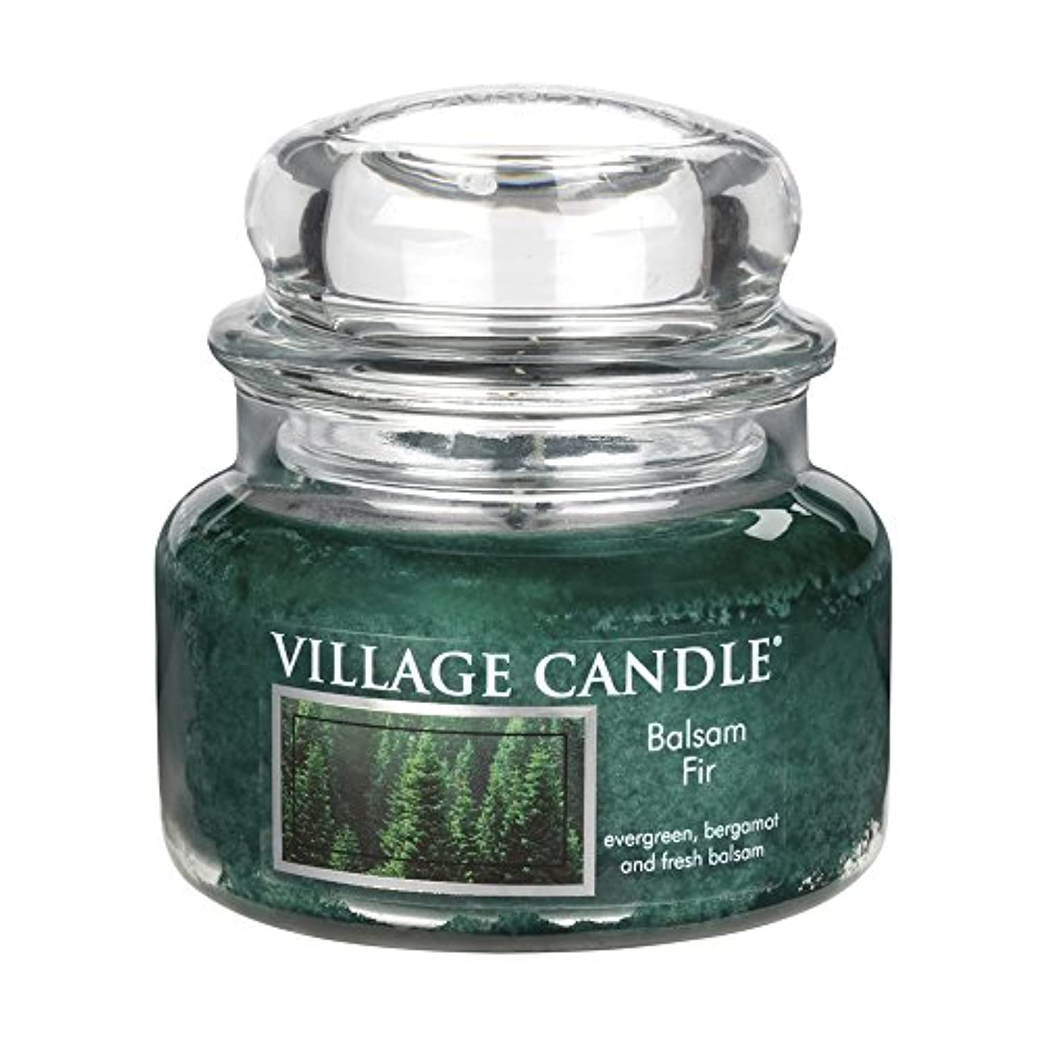 (Small (330ml)) - Village Candle Balsam Fir 330ml Glass Jar Scented Candle, Small