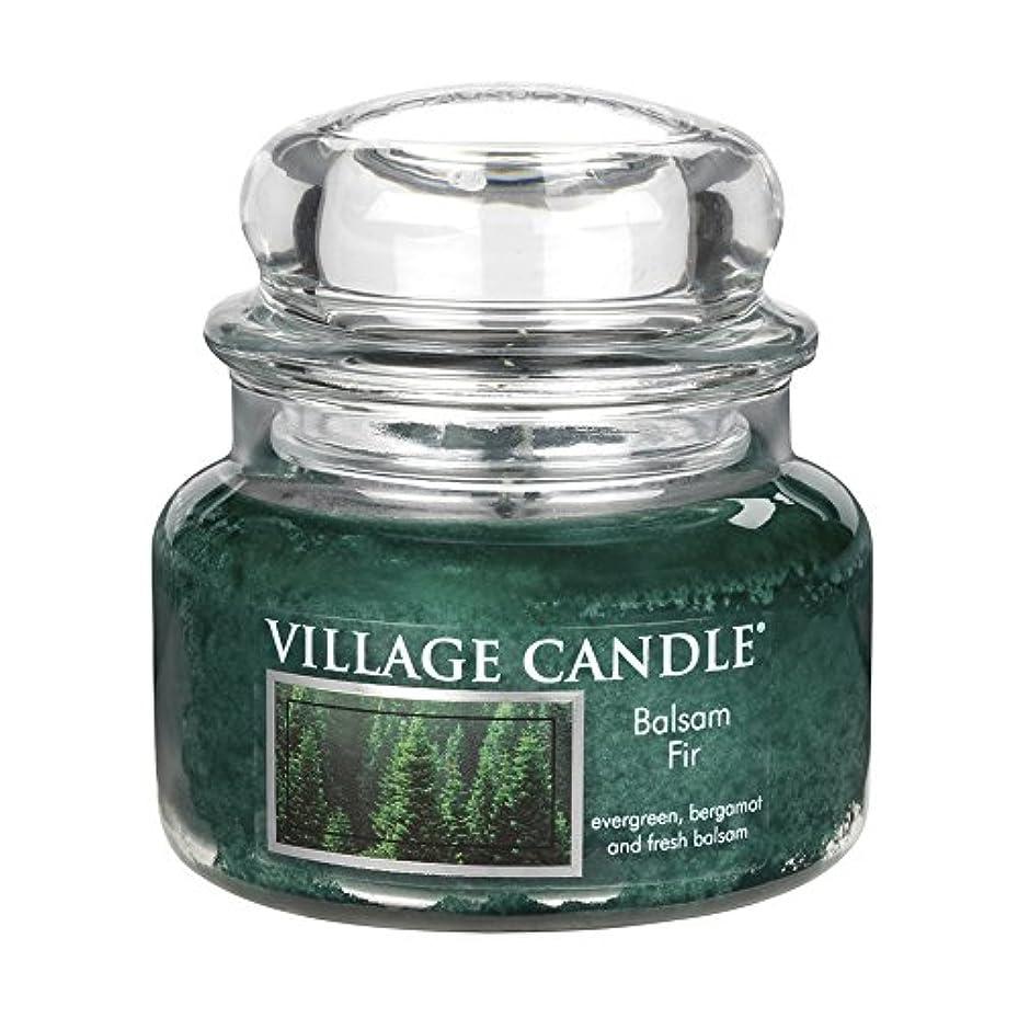 ばか断片世界的に(Small (330ml)) - Village Candle Balsam Fir 330ml Glass Jar Scented Candle, Small