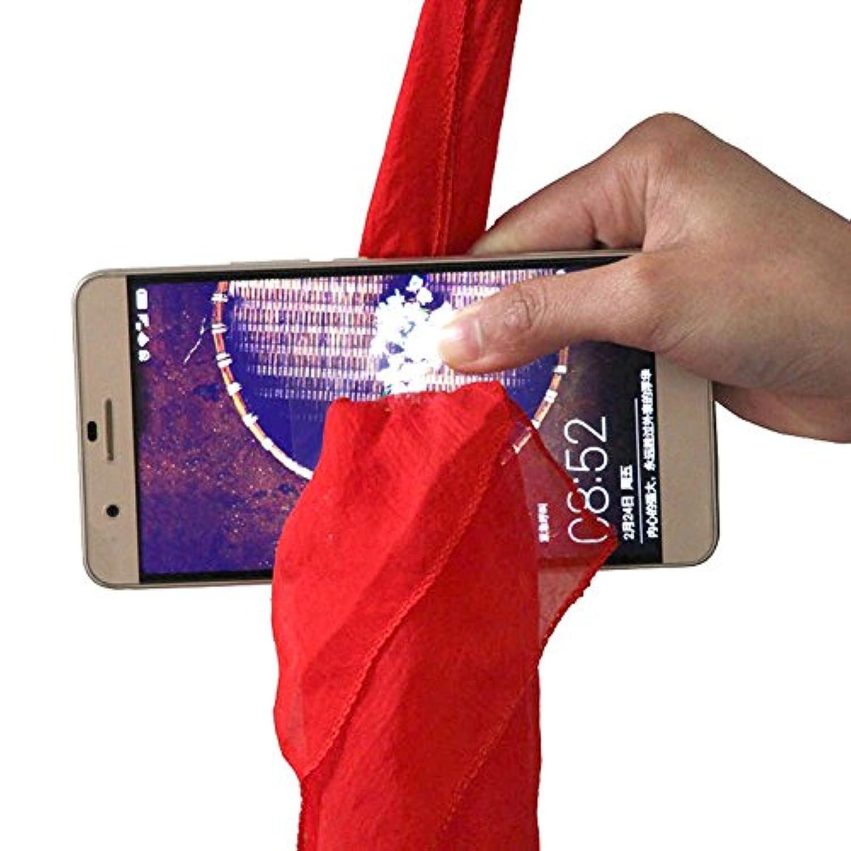 ruixuered-トリッキーノベルティシルクタオルクロススルー携帯電話ステージパフォーマンスマジックプロップツールジョーク玩具