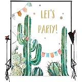Muzi 7x5フィート 死者の日 写真撮影用背景 メキシコ フィエスタ スカル 背景 薄手 ビニール Dia DE Los Birthday Party Decoration Photo Booth Banner W-923