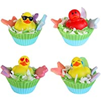 Colorful Affair Kids Creative Craft DIY Soap Cupcake Making Kit with Emoji Duckie Toys | Birthday Gifts | Arts and Crafts for Girls | Boys | Make 4 Colorful Bath Soaps [並行輸入品]