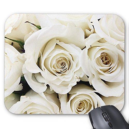 Recaso(レカソ)白いバラの マウスパッド 敷き おしゃれ オフィス用 滑り止め 水洗い可能 優れた耐久性 天然ゴム...