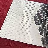 ガラスモザイクタイル、ミニ正方形ガラスモザイクミラーシートRealガラス自己粘着、シルバーガラス工芸